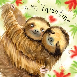 FIZ26 - Happy Valentine's Day Card Sloths